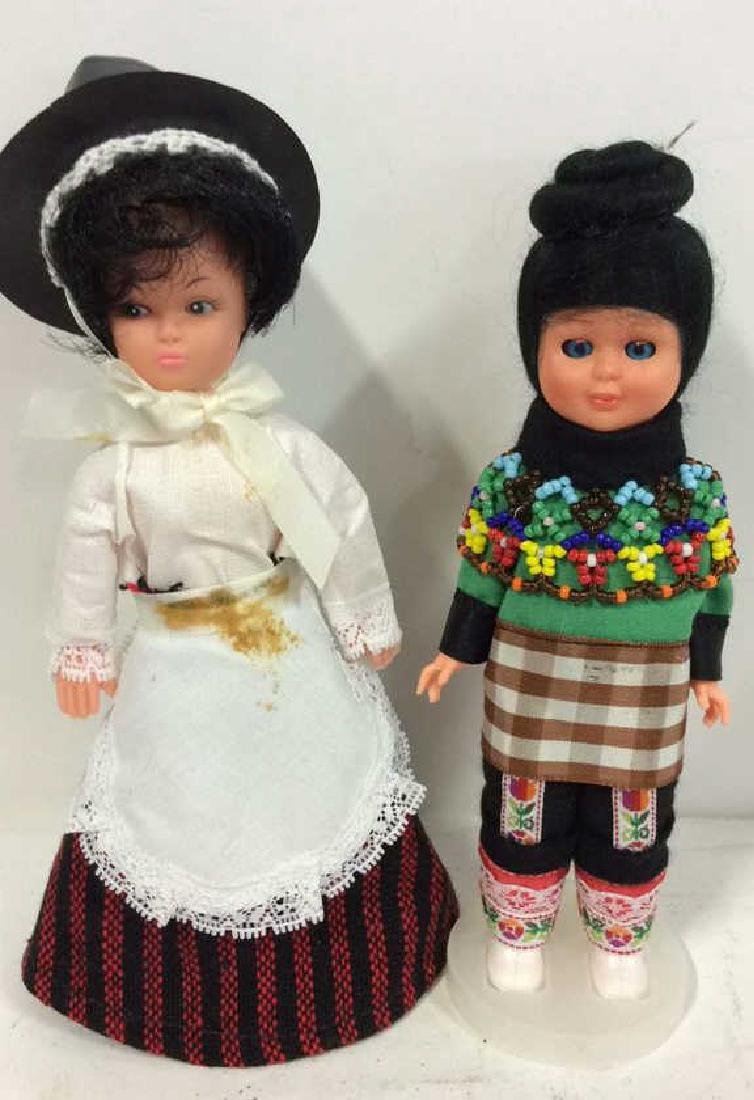 3 Collectible Costumed Dolls In period costumes of - 4
