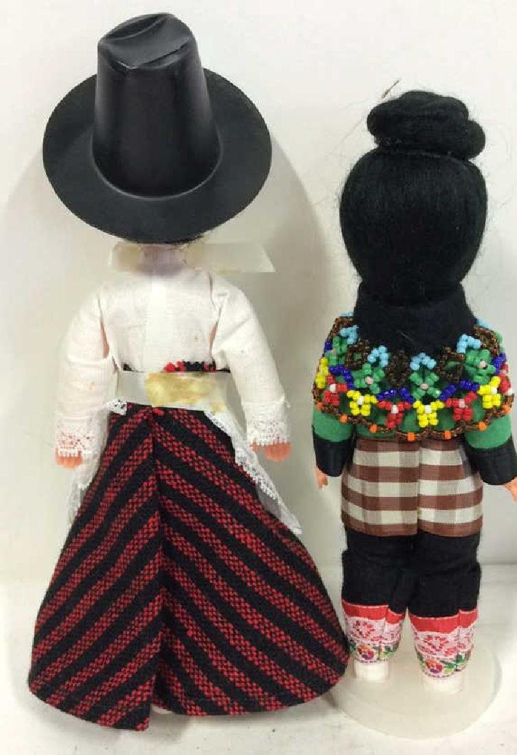 3 Collectible Costumed Dolls In period costumes of - 5