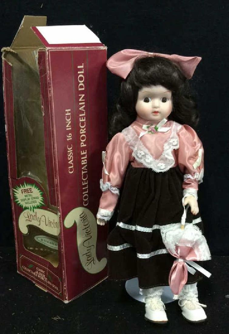 Collectible Lady Victoria Porcelain Doll w Box Doll