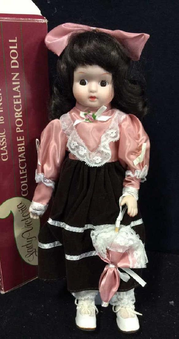 Collectible Lady Victoria Porcelain Doll w Box Doll - 2