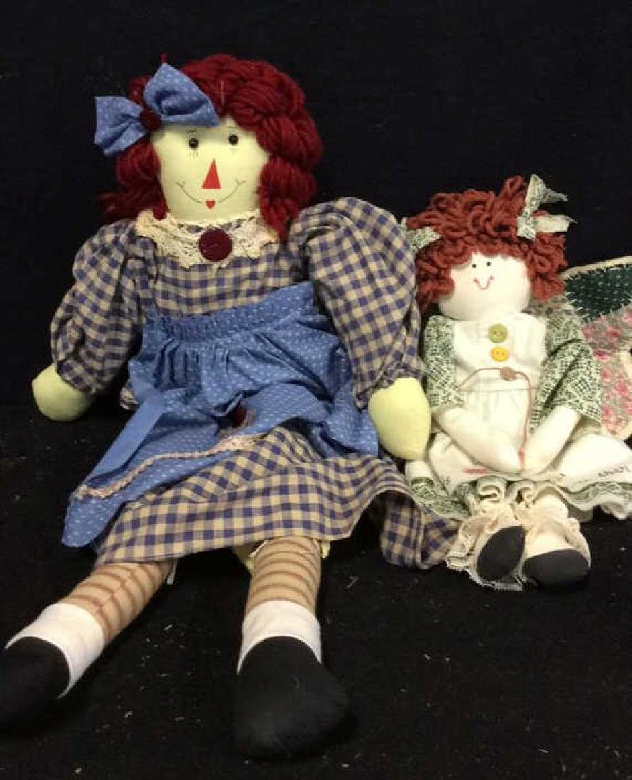 Raggedy Anne Doll And Soft Fabric Angel Two Fabric