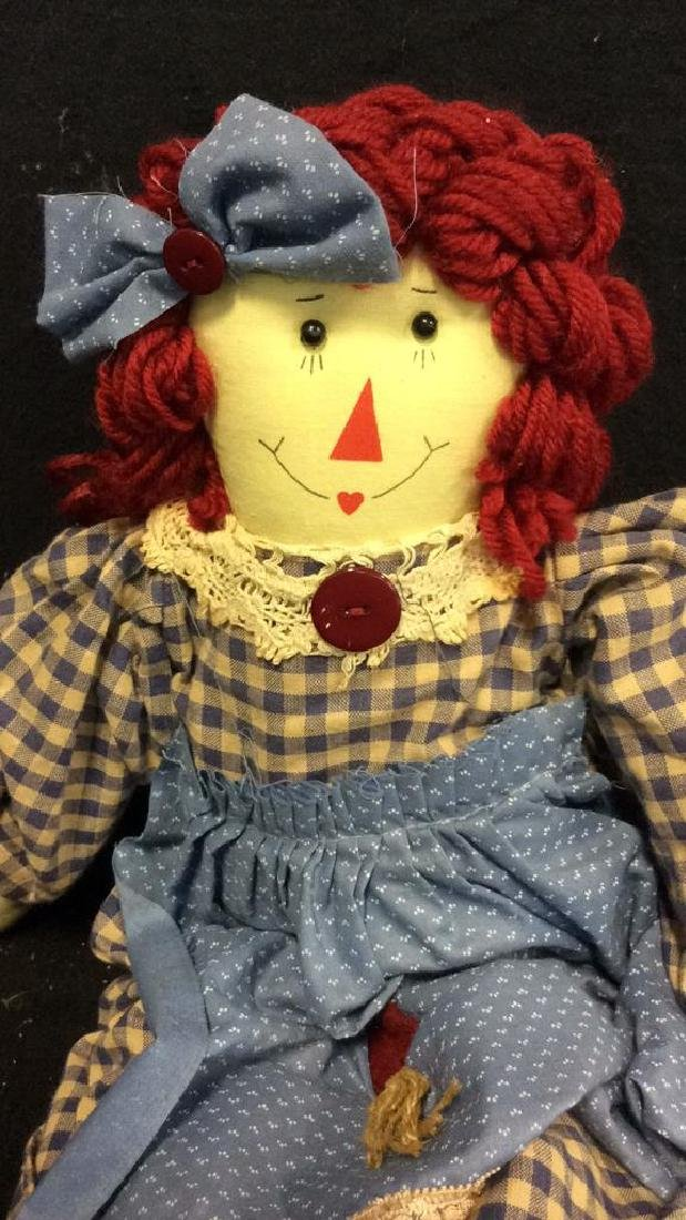 Raggedy Anne Doll And Soft Fabric Angel Two Fabric - 2