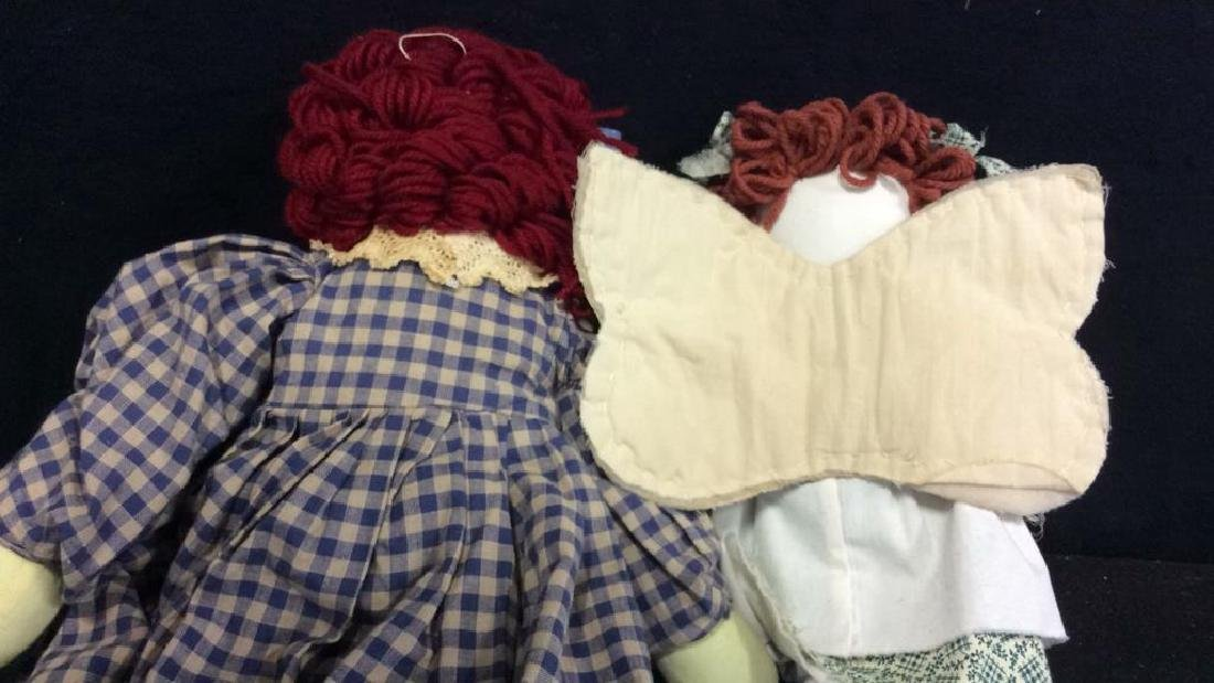 Raggedy Anne Doll And Soft Fabric Angel Two Fabric - 4