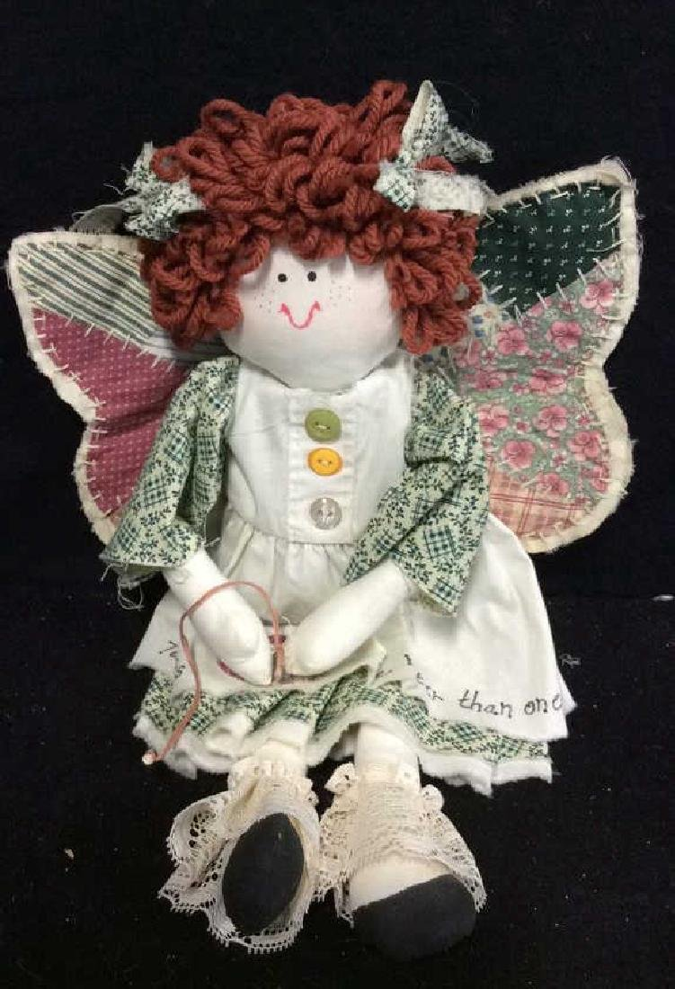Raggedy Anne Doll And Soft Fabric Angel Two Fabric - 5