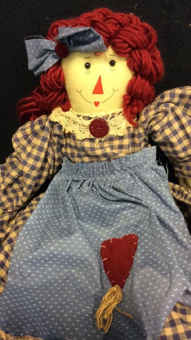 Raggedy Anne Doll And Soft Fabric Angel Two Fabric - 6