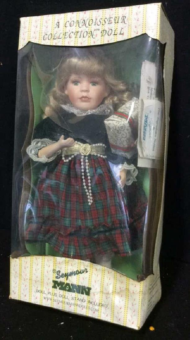 Seymour Mann Collectible Porcelain Doll w Box Hand