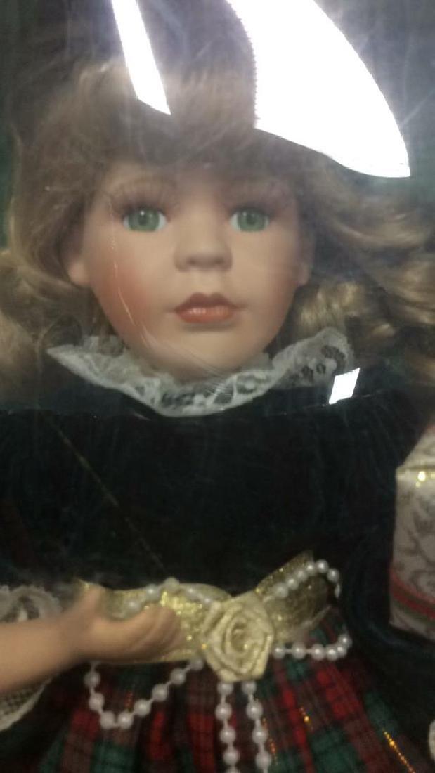 Seymour Mann Collectible Porcelain Doll w Box Hand - 3