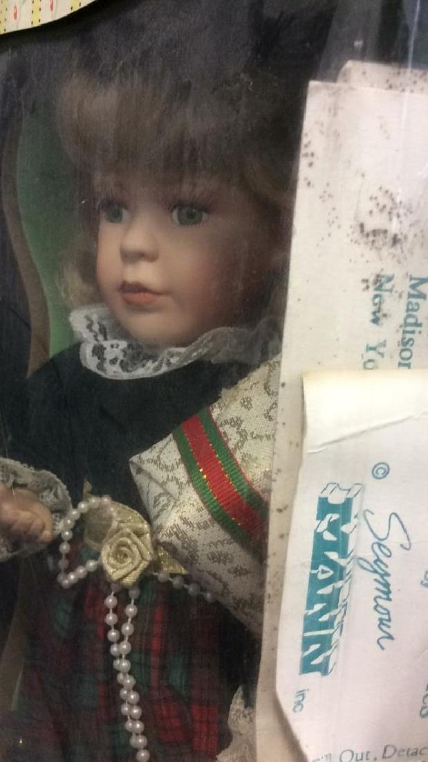 Seymour Mann Collectible Porcelain Doll w Box Hand - 5
