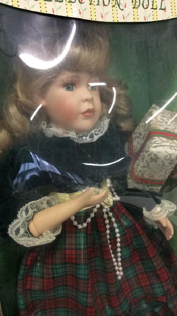 Seymour Mann Collectible Porcelain Doll w Box Hand - 6