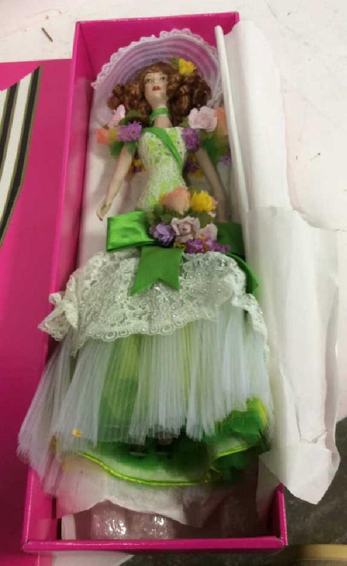 Bob Mackie Ornately Costumed Doll with Box Lime green - 10