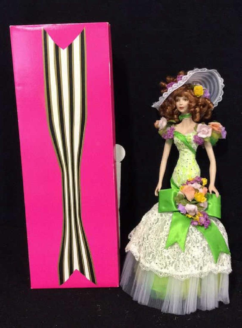 Bob Mackie Ornately Costumed Doll with Box Lime green