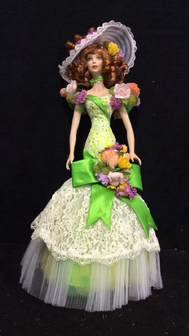 Bob Mackie Ornately Costumed Doll with Box Lime green - 2