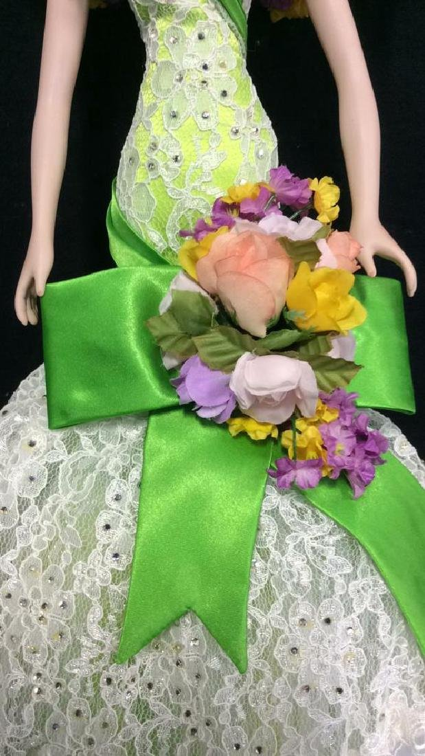 Bob Mackie Ornately Costumed Doll with Box Lime green - 3