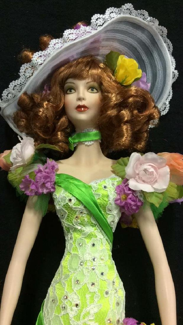 Bob Mackie Ornately Costumed Doll with Box Lime green - 4