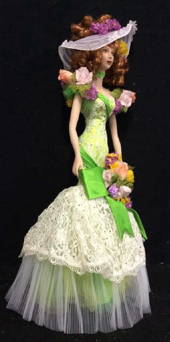 Bob Mackie Ornately Costumed Doll with Box Lime green - 5