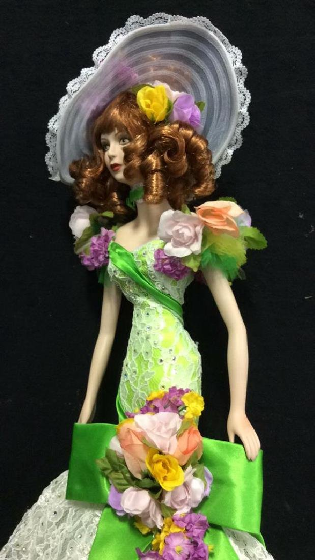 Bob Mackie Ornately Costumed Doll with Box Lime green - 6