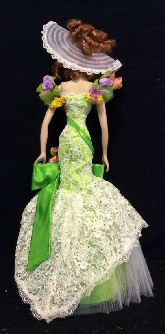 Bob Mackie Ornately Costumed Doll with Box Lime green - 8