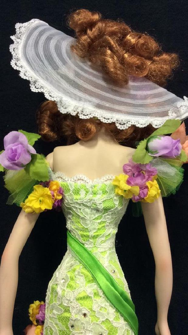 Bob Mackie Ornately Costumed Doll with Box Lime green - 9