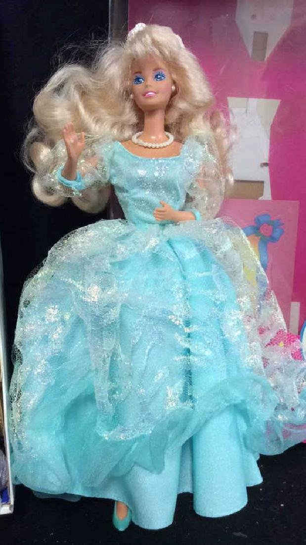 2 Barbie Doll Collectibles Boxes Book Snow Princess - 3