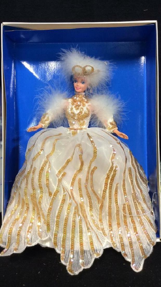 2 Barbie Doll Collectibles Boxes Book Snow Princess - 5