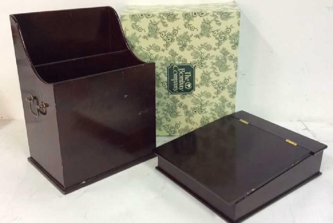 Bombay & Co lap Desk w Box , file holder Lap desk with