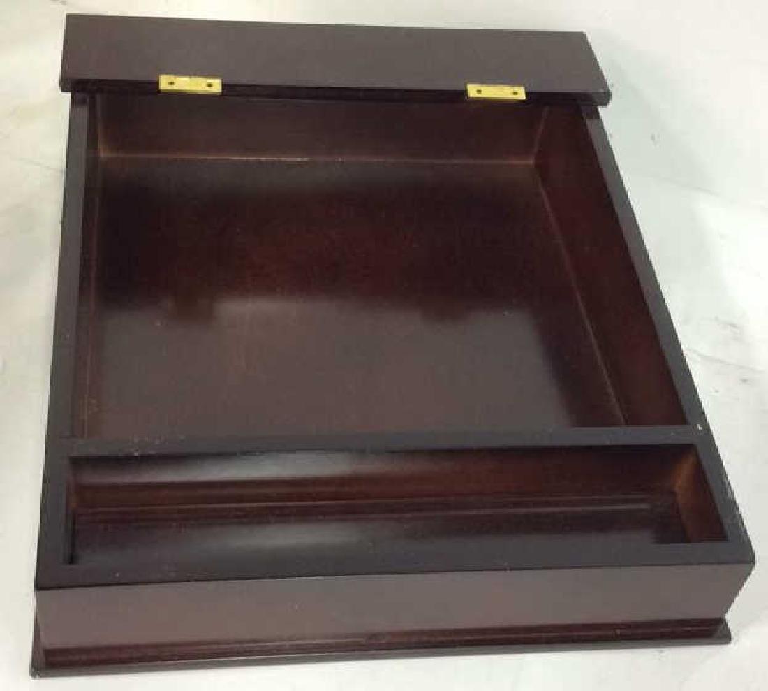 Bombay & Co lap Desk w Box , file holder Lap desk with - 3