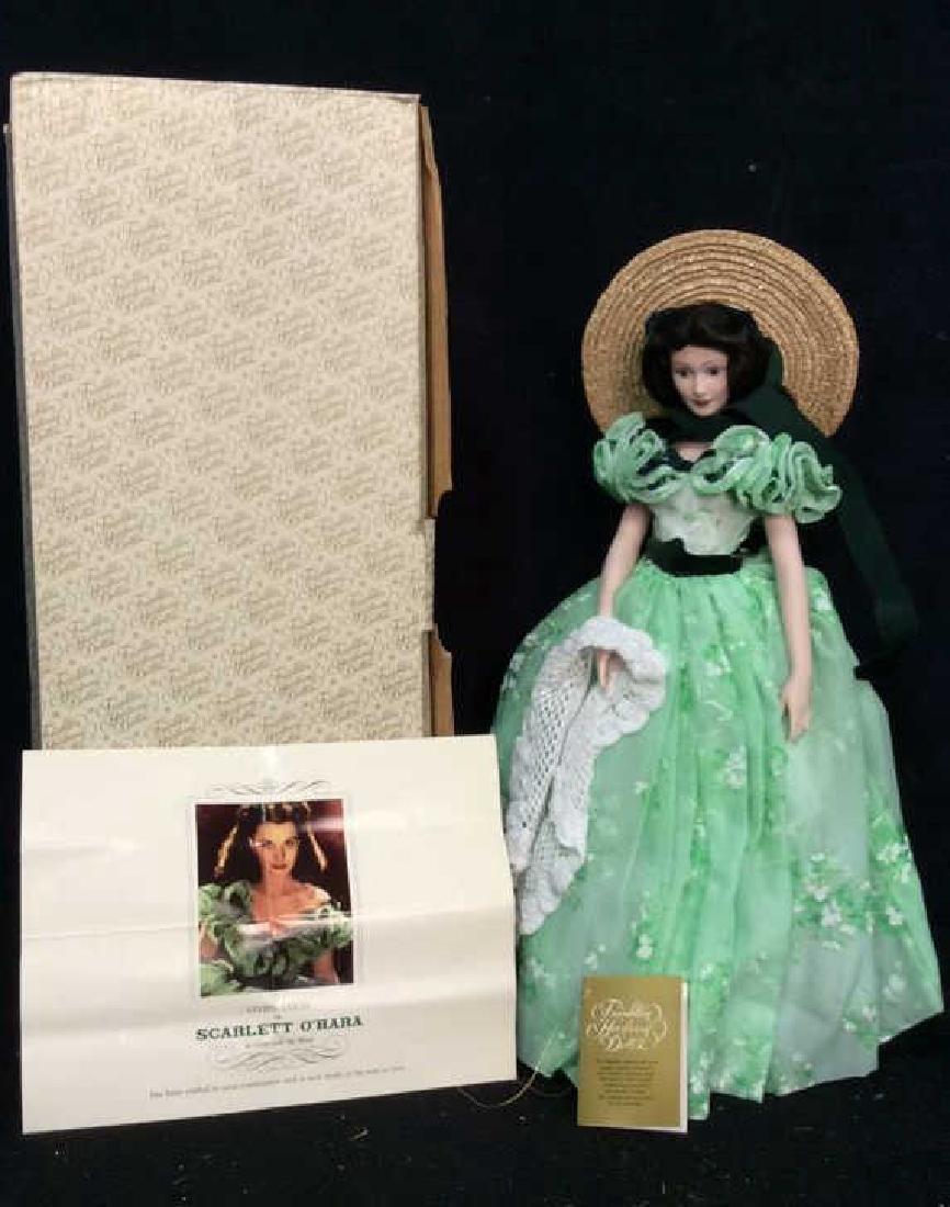 Franklin Mint Scarlett O'Hara Doll Box Papers Franklin