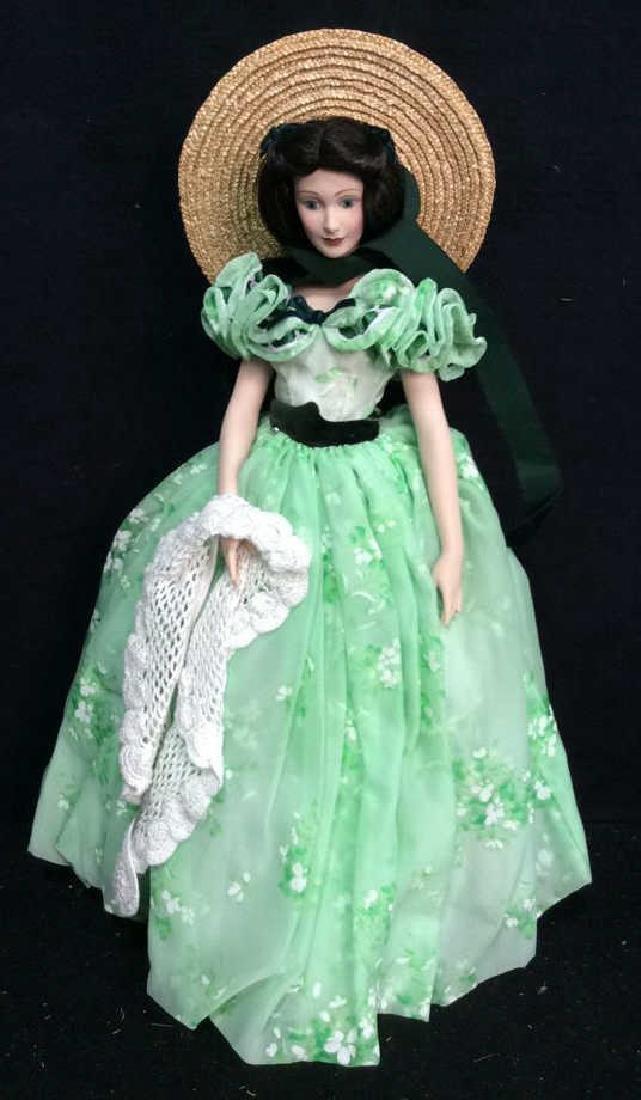 Franklin Mint Scarlett O'Hara Doll Box Papers Franklin - 3