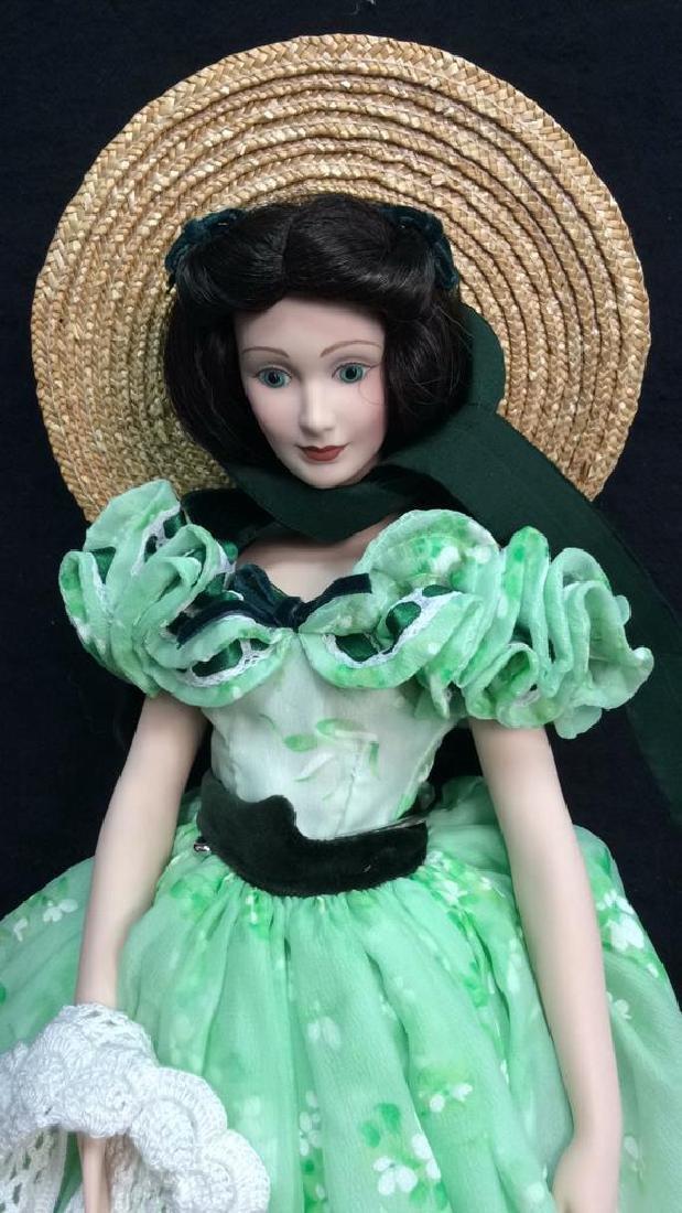 Franklin Mint Scarlett O'Hara Doll Box Papers Franklin - 4