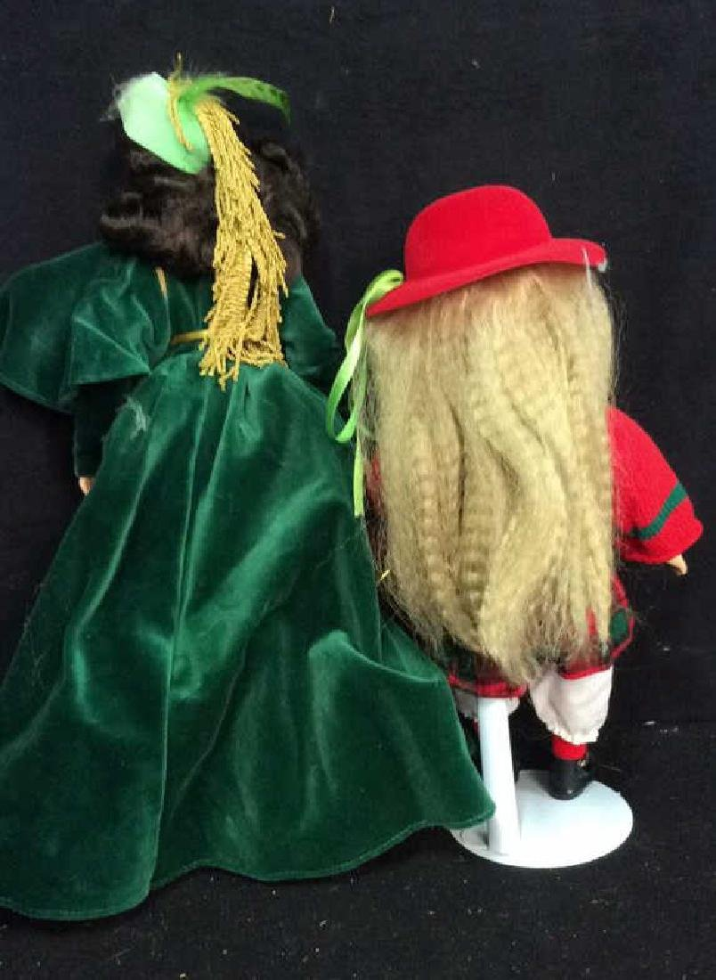 2 Collectible Dolls Painted Porcelain and Costumed - 5