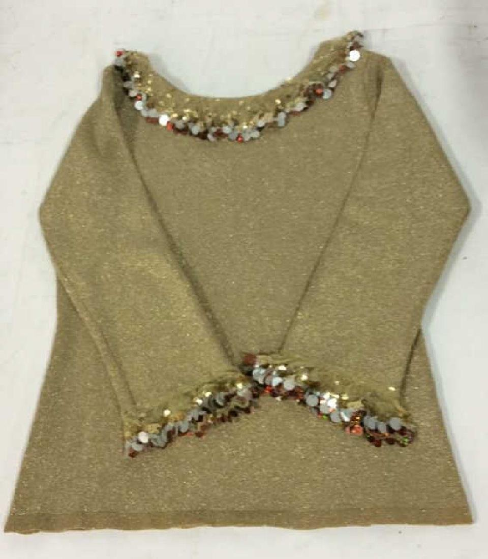 Joseph Abboud Gold and sequined Top Ladies size small