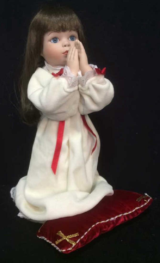 Porcelain Praying Doll Magnolias and Lace Collection