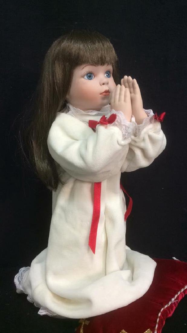 Porcelain Praying Doll Magnolias and Lace Collection - 2
