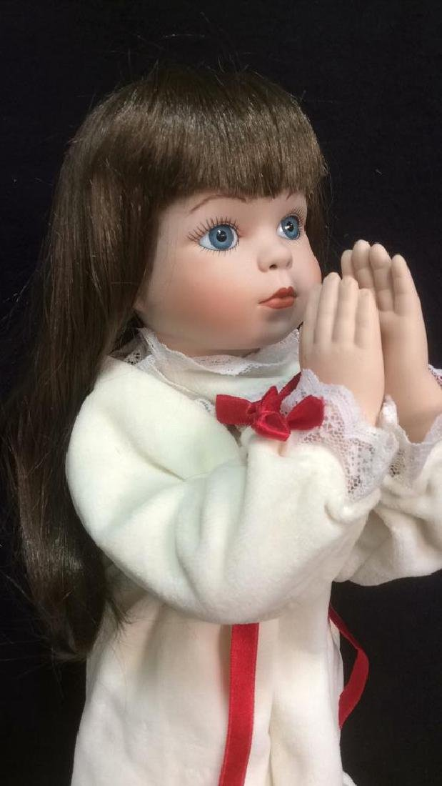 Porcelain Praying Doll Magnolias and Lace Collection - 3