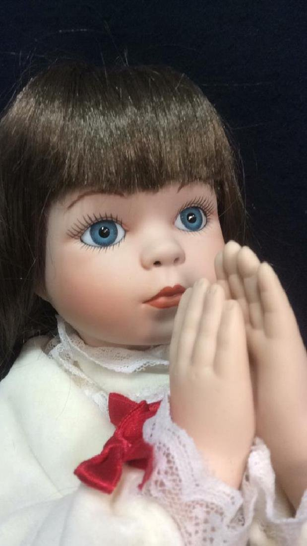 Porcelain Praying Doll Magnolias and Lace Collection - 4