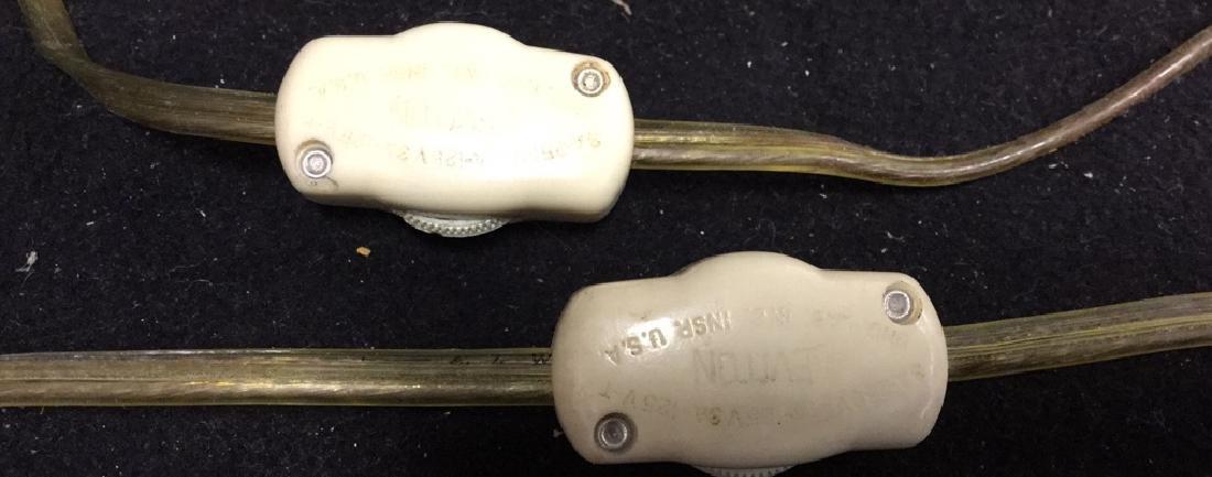 Pair Of Vintage Brass Lamps 2 vintage Leviton table - 10