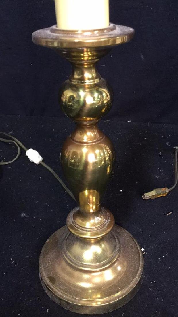 Pair Of Vintage Brass Lamps 2 vintage Leviton table - 2