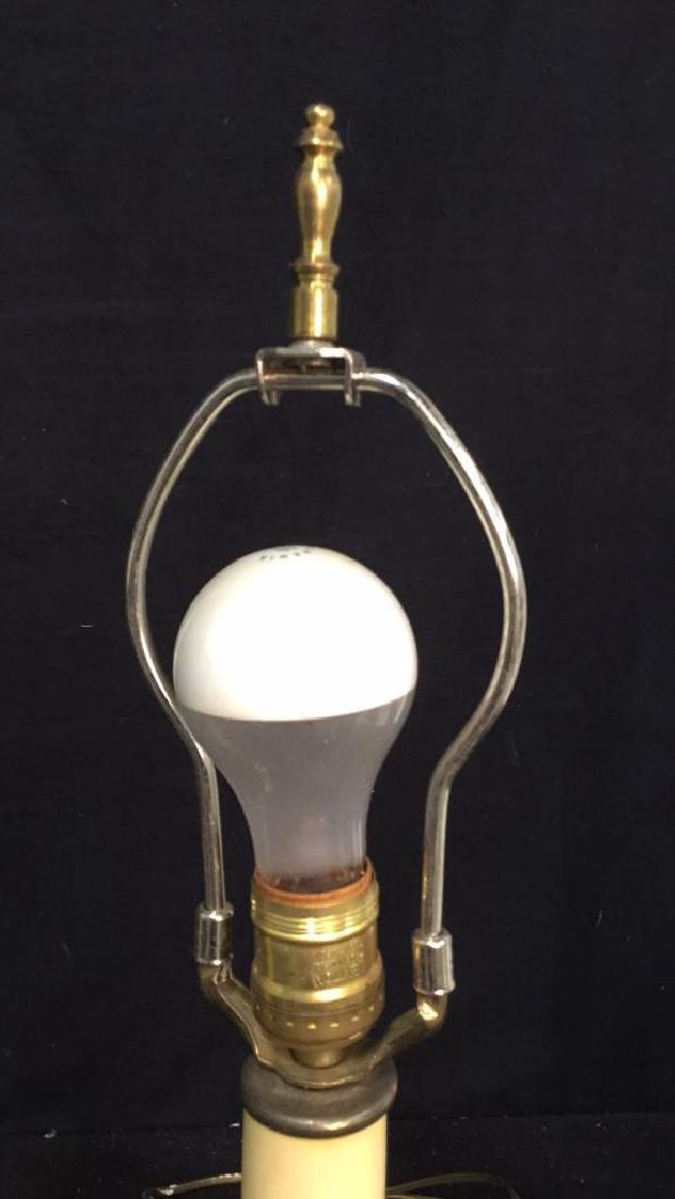 Pair Of Vintage Brass Lamps 2 vintage Leviton table - 5