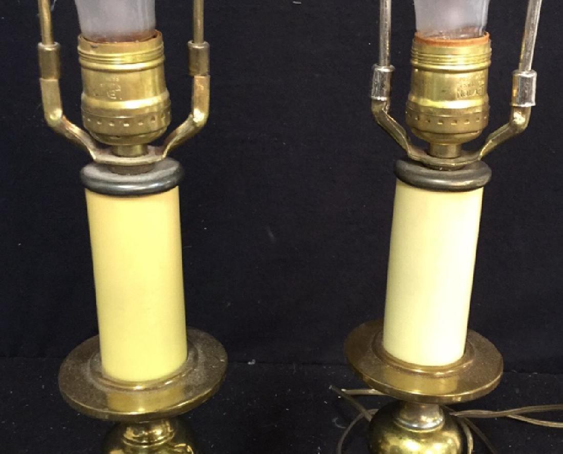 Pair Of Vintage Brass Lamps 2 vintage Leviton table - 7