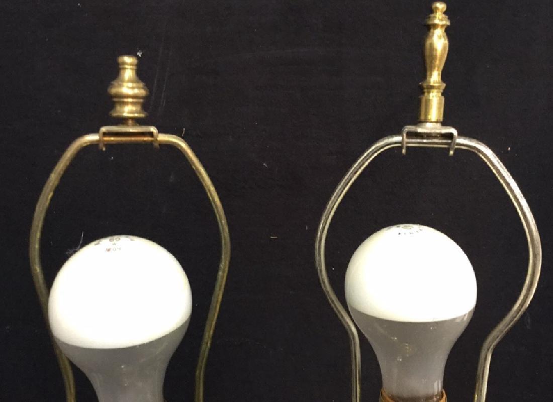 Pair Of Vintage Brass Lamps 2 vintage Leviton table - 8