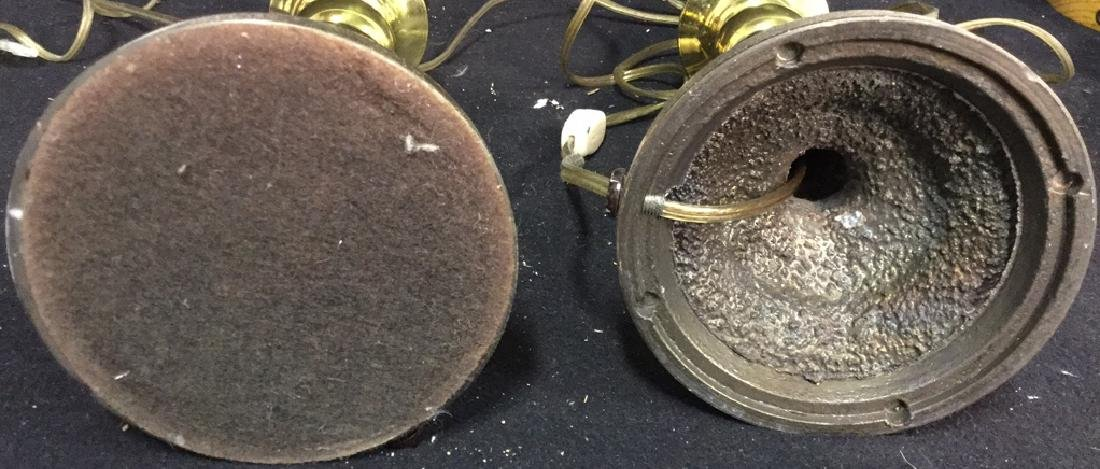 Pair Of Vintage Brass Lamps 2 vintage Leviton table - 9