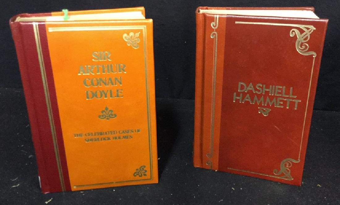 Two Vintage Hardcover Leather Bound  Books