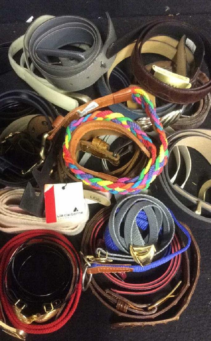 Group of Women's Belts Assorted