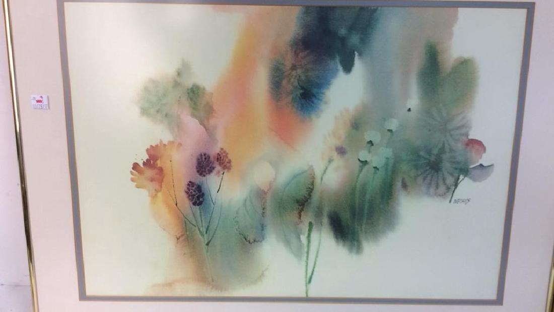 Nechis watercolors, pair signed artworks - 3