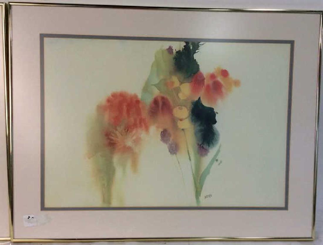 Nechis watercolors, pair signed artworks - 6