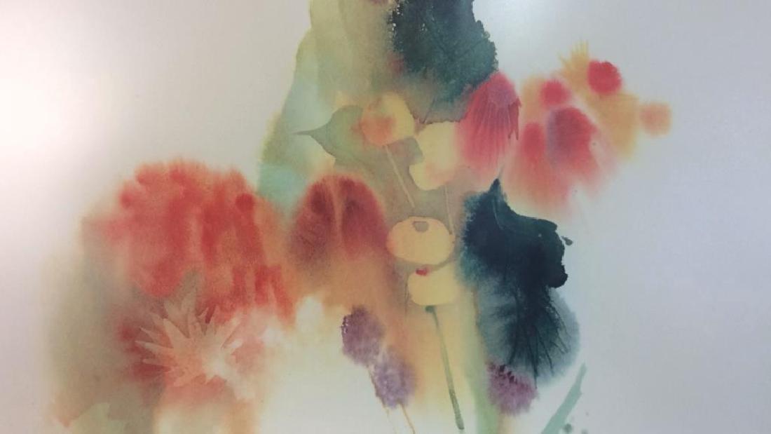 Nechis watercolors, pair signed artworks - 7