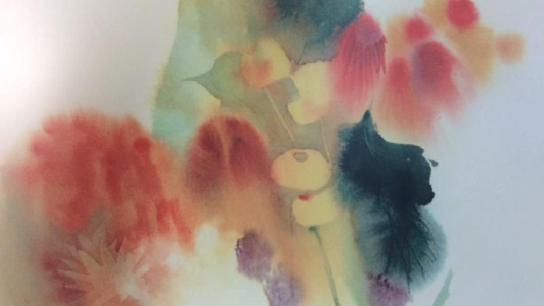 Nechis watercolors, pair signed artworks - 9