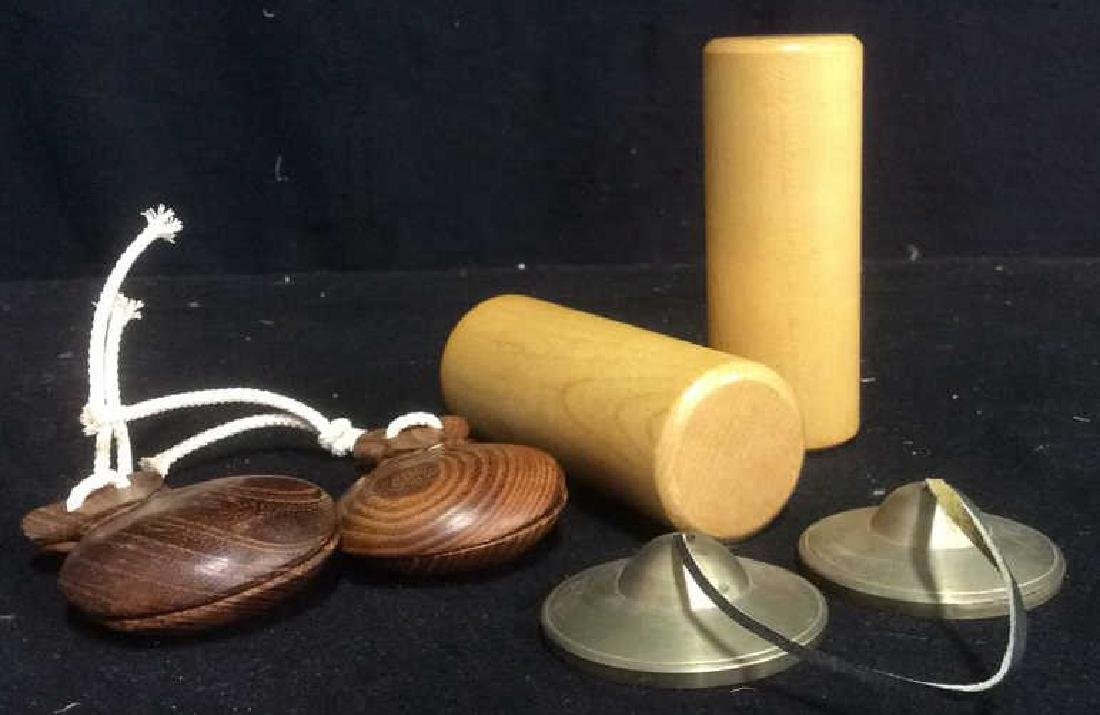 Group Lot of Musical Hand Percussion Instruments