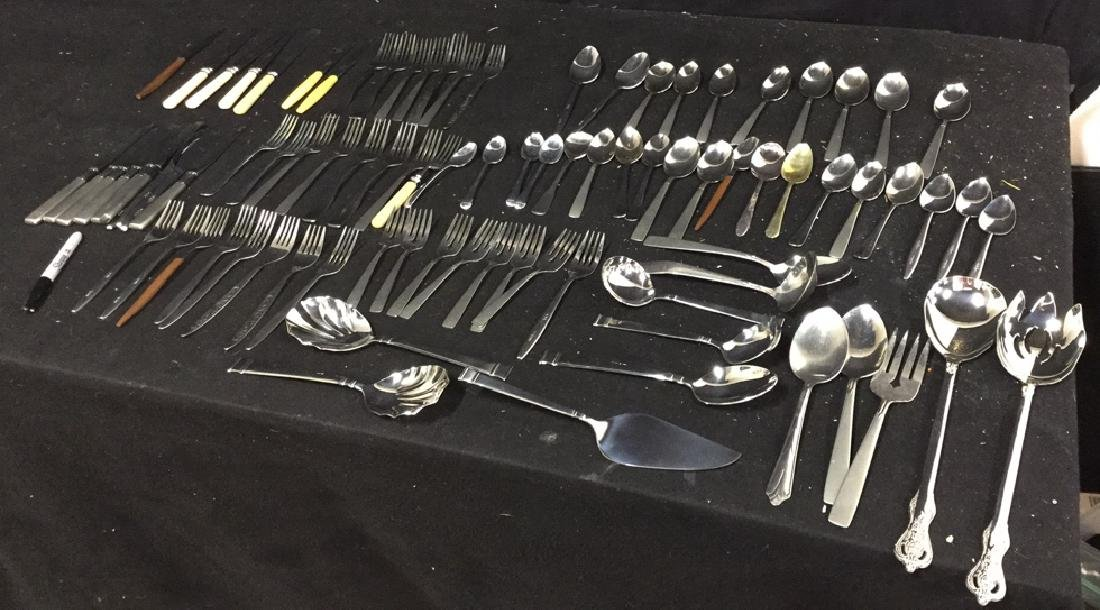 Group Lot  90 Assorted Stainless Steel Flatware - 3