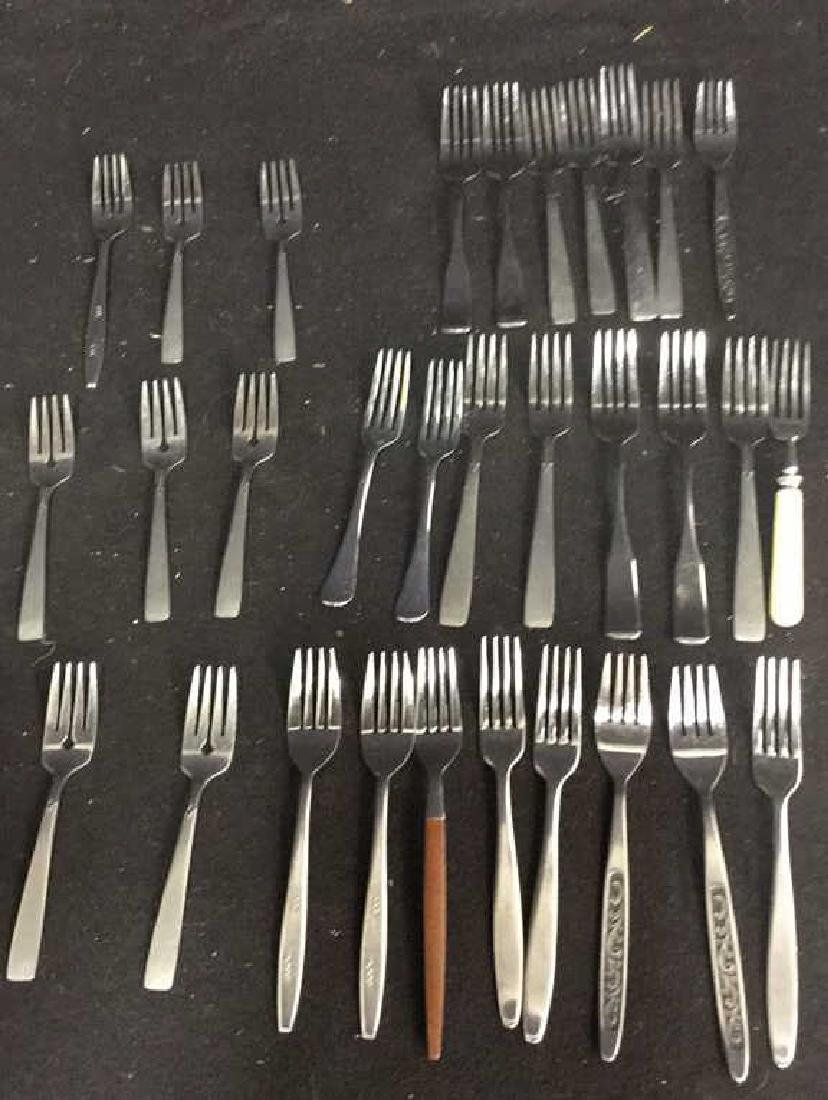 Group Lot  90 Assorted Stainless Steel Flatware - 5